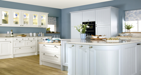 Burbidge Kemble Painted Cornflower Blue and Ivory