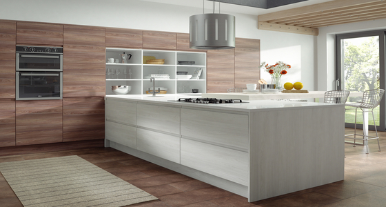 AMFI Amalfi Grained White and Light Walnut