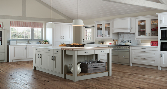 Kitchen Stori Florence Painted Stone and Light Grey