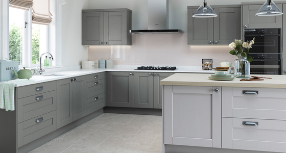 Kitchen Stori Kensington Light Grey and Dust Grey