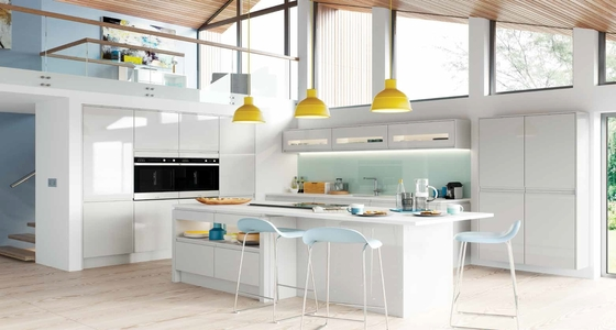 Kitchen Stori Strada Gloss Light Grey