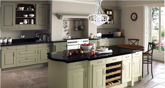Kitchen Stori Windsor Classic Painted Sage Green and Olive