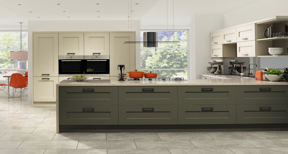 Kitchen Stori Windsor Shaker Painted Stone and Lava