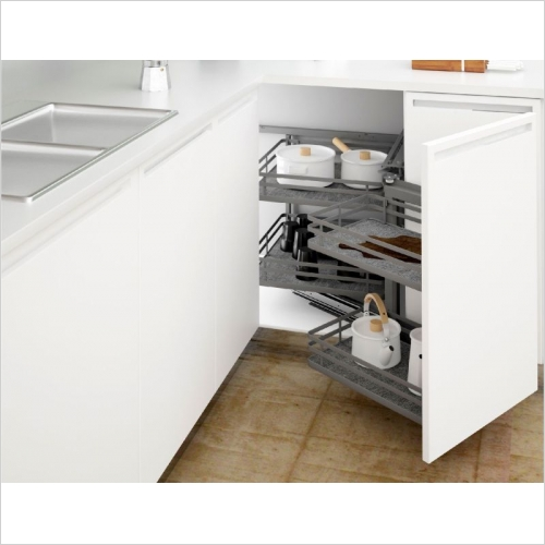 Sige Storage Solutions - Infinity Plus Corner Solution 400mm LH 505mm D SIGE