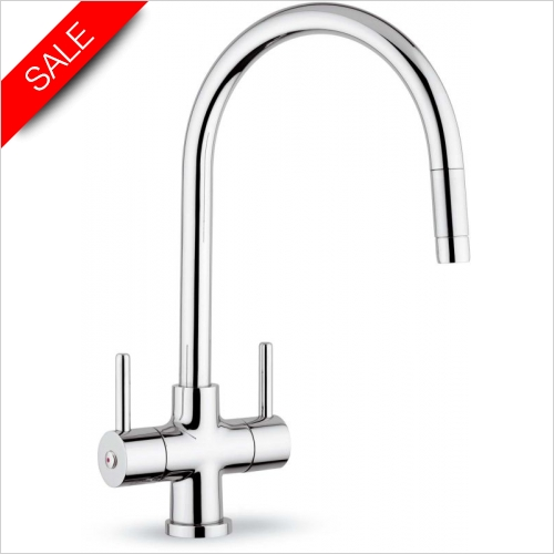 Clearwater Kitchen Sinks - Clearwater Emporia Pull Out Monobloc With Swan Swivel Spout