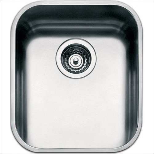 Smeg Sinks - Smeg UM40 Alba Undermount Single Bowl Sink 420mm