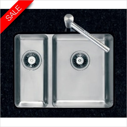 Clearwater Kitchen Sinks - Clearwater Salsa 1.5 Bowl 600 RH Main Bowl