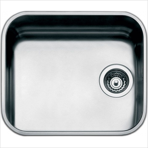 Smeg Sinks - Smeg Alba Undermount Single Bowl Sink 478mm