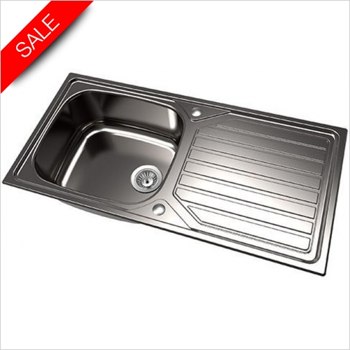 The 1810 Company Sinks - Veloreuno Single Bowl Sink 100I Large