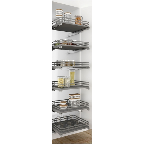 Sige Storage Solutions - Orion Pull-Out  Basket 500mm Wide Unit, 1150mm Height