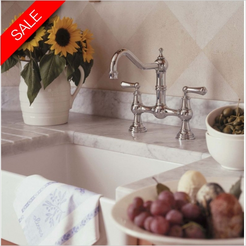 Perrin & Rowe - Provence 2 Hole Sink Mixer With Crosshead Handles