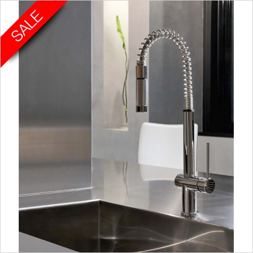 Gessi - Oxygen Hi-Tech Single Lever Monobloc Mixer, Pull Out Rinse