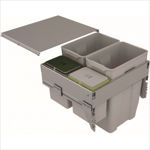 Sige Recycling Bins - Inter-Bin 600mm Wide Unit, 84ltr Capacity
