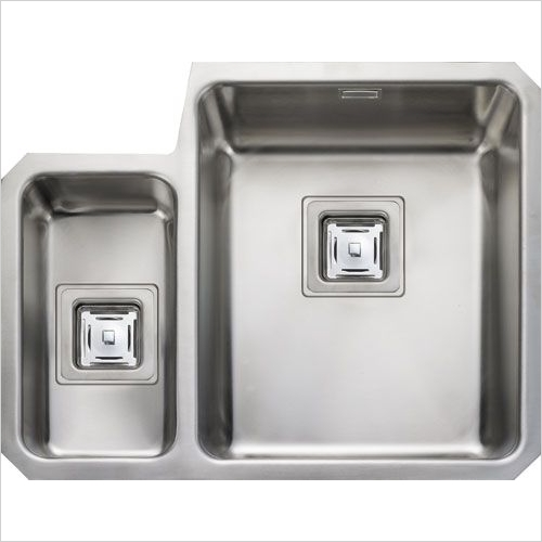 Rangemaster Sinks - Rangemaster Atlantic Quad QUB3416 1.5 Bowl Sink RH