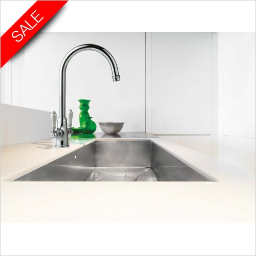 Clearwater Kitchen Taps - Elegance Twin Lever Monobloc With Swivel Spout