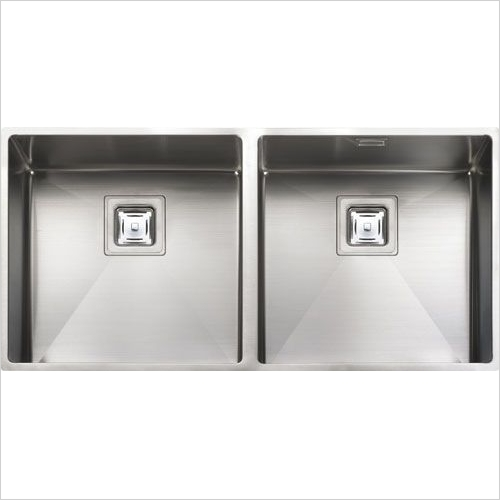 Rangemaster Sinks - Rangemaster Atlantic Kube KUB4040 Double Bowl Sink