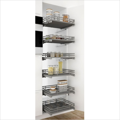 Sige Storage Solutions - Infinity Plus Orion Pull-Out Basket 600mm, 180mm H SIGE