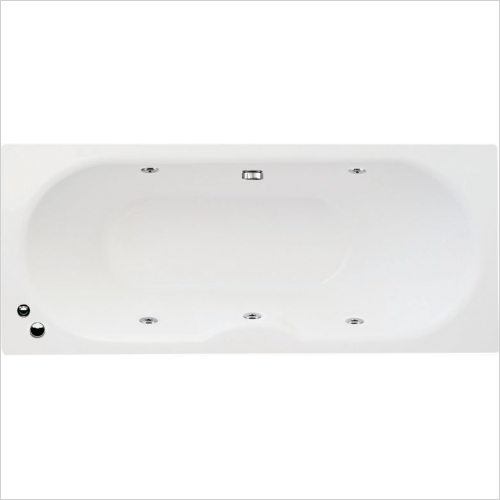 Aquabathe - Luna 1700 x 750mm 6 Jet Whirlpool Bath