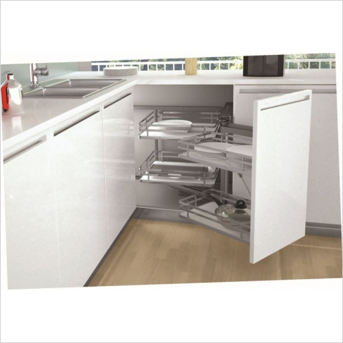 Sige Storage Solutions - Infinity Plus Corner Solution 600mm LH 505mm D SIGE