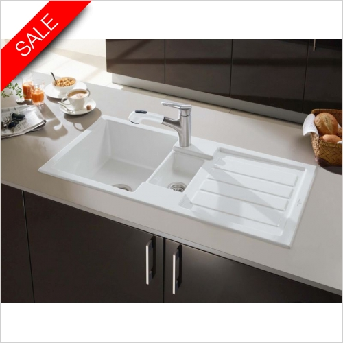 Villeroy & Boch - Flavia 60 1.5 Bowl, Single Drainer