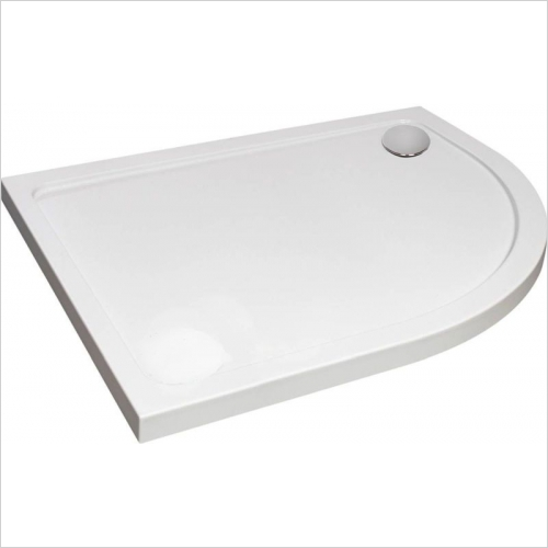Aquaglass - 1200 x 800mm Designer Offset Quadrant Tray RH
