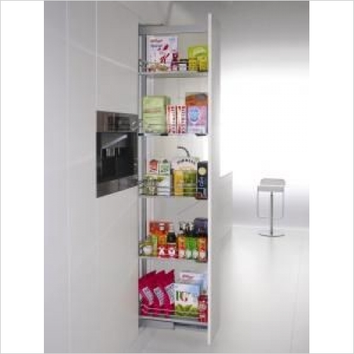 Kessebohmer - Arena Classic 400mm Full Ext'n Larder Unit, 1800-2200mm High
