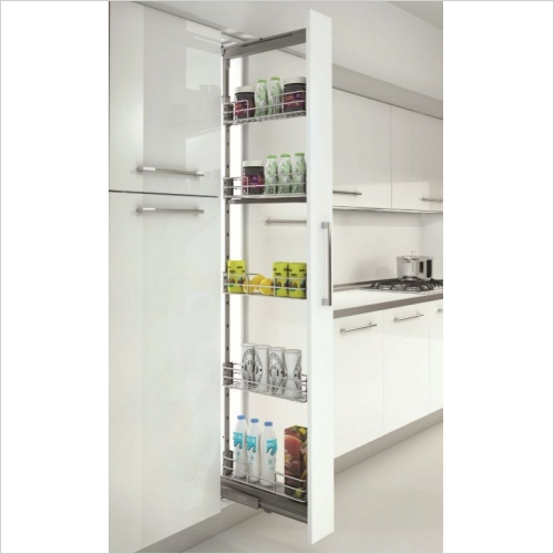 Sige Storage Solutions - Classic Pull-Out Larder 200mm Wide Unit, 1880-2180mm Height