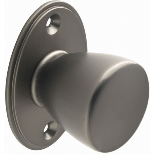 Second Nature Handles - Round Knob With Backplate 35mm Diameter Knob