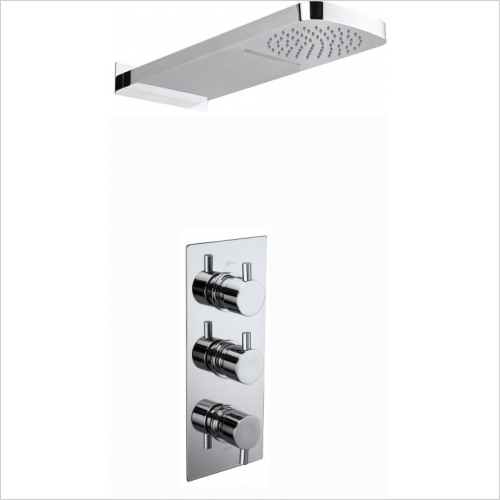Aquaflow - Slyde Triple Concealed Thermostatic Shower Valve MP