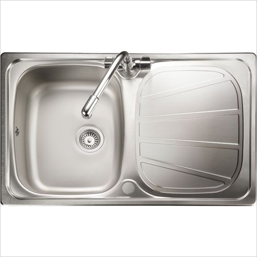 Rangemaster Sinks - Rangemaster Baltimore BL8001 Single Bowl Sink & Drainer