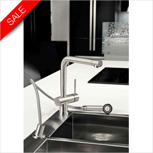 Gessi - Gessi Oxygen Single Lever Monobloc Mixer With Pull Out Spray