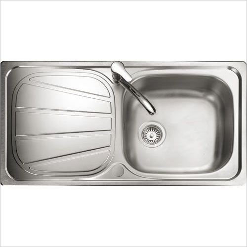Rangemaster Sinks - Rangemaster Baltimore BL9501 Single Bowl Sink & Drainer