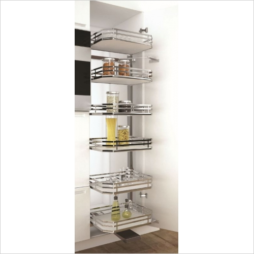Sige Storage Solutions - Infinity Plus Orion Elle Pull-Out Larder 400mm 2180mm H SIGE