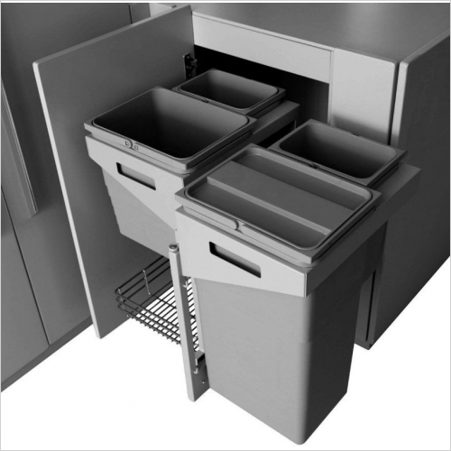 Herbert Direct Recycling Bins - Easy Access Corner Solution With Waste Bins 450-500mm LH