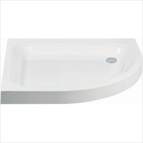 Aquaglass - 1000x800mm Quadrant RH Shower Tray