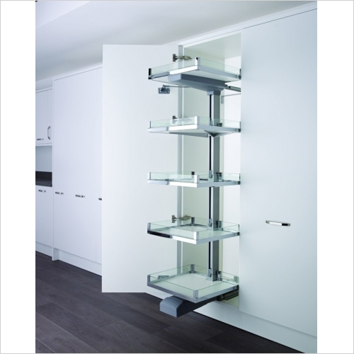 Kessebohmer - Convoy Premio, 600mm Side Opening Glass Sided Larder, LH