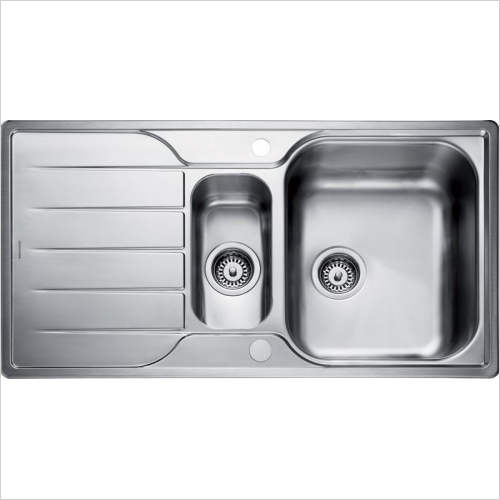 Rangemaster Sinks - Rangemaster Michigan MG9502 1.5 Bowl Sink & Drainer