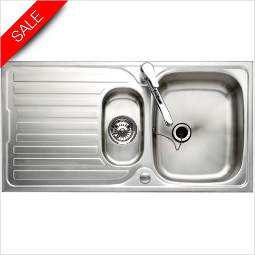 Clearwater Kitchen Sinks - Sapphire 1.5 Bowl Sink & Drainer