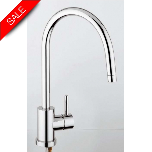 Clearwater Kitchen Sinks - Clearwater Elmira Pull Out Monobloc With Swan Swivel Spout