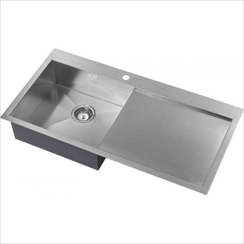 The 1810 Company Sinks - Zenuno 5 I-F 1.0 Bowl Sink & Drainer LH Bowl