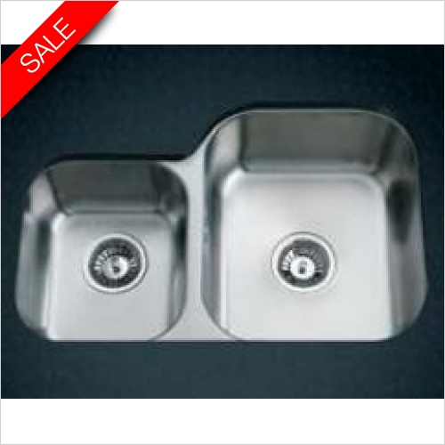 Clearwater Kitchen Sinks - Clearwater Symphony Undermount 1.75 Bowl Sink, Main Bowl-RH