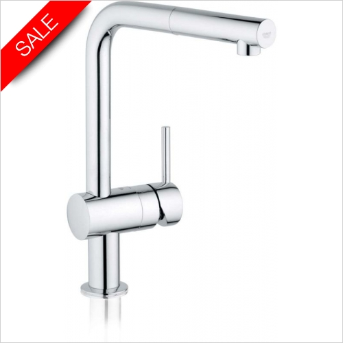 Grohe - Grohe Minta Single Lever Monobloc With Extractable Cascade