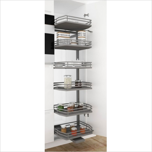 Sige Storage Solutions - Infinity Plus Orion Elle Pull-Out Larder 600mm 2180mm H SIGE