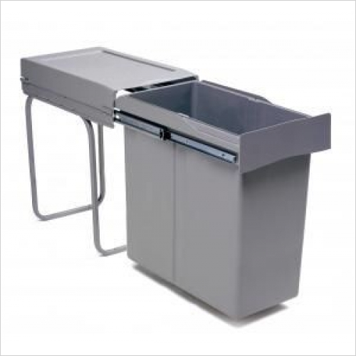 Second Nature Recycling Bins - Pull-Out Waste Bin, 40 Litre, Full Extension Runners
