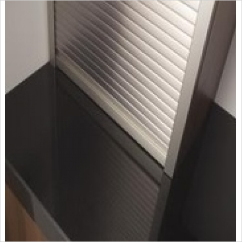 Second Nature Storage - ~H x ~Wmm Tambour Door Kit - Stainless Steel Effect