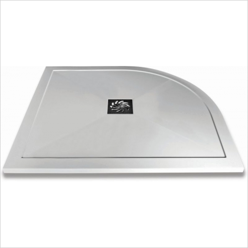 Aquaglass - 1200x800mm Slimline Offset Quadrant Shower Tray LH