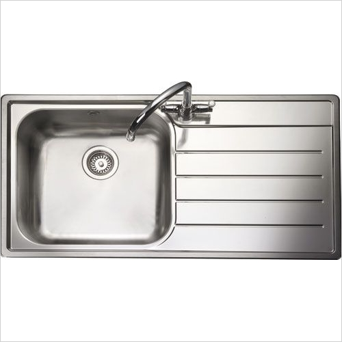 Rangemaster Sinks - Rangemaster Oakland OL9851 Single Bowl Sink & Drainer LH