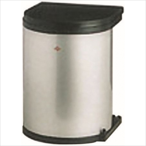 Herbert Direct Waste Bins - Stainless Steel Round Bin 400mm