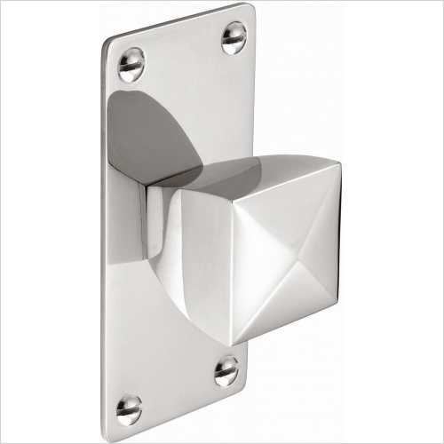 Second Nature Handles - Knob Square With Rectangular Backplate 34mm