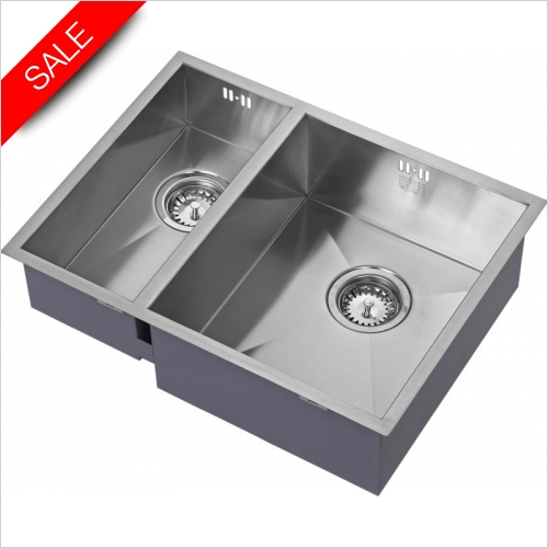 The 1810 Company Sinks - Zenduo 180/340U BBR Undermounted Sink